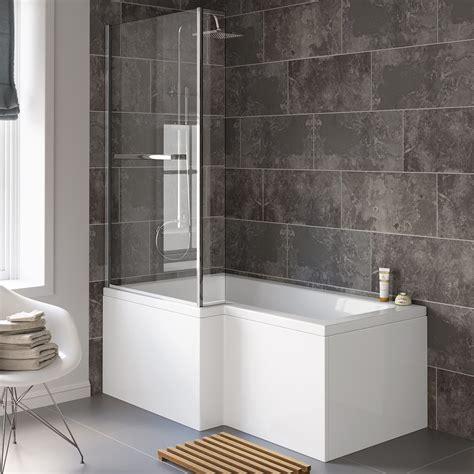 What Is A Shower Bath by Modern L P Shape Shower Screen Bath Tub Bathroom Suite Ebay