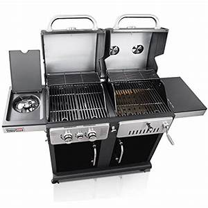 Gas Kohle Grill Kombination : royalgourmet prestige stainless 2 burner 33 000 btu propane gas charcoal combo grill with side ~ Whattoseeinmadrid.com Haus und Dekorationen