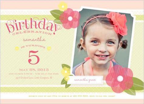 5th birthday invitation card template 5 years birthday invitations free printable