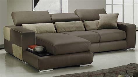 canapé reversible canapé d 39 angle réversible en cuir marron pas cher canapé
