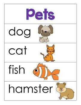 pet themed word cards and word walls in and 344 | original 405789 1