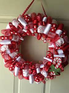 decoration ideas interactive image of decorative round diy red and white mesh christmas wreath