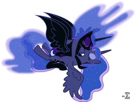 Nightmare Moon And Princess Luna Kissing (nm Ver.) By