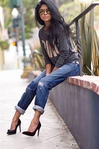 Best 25+ Jeans heels ideas on Pinterest | Heels outfits ...