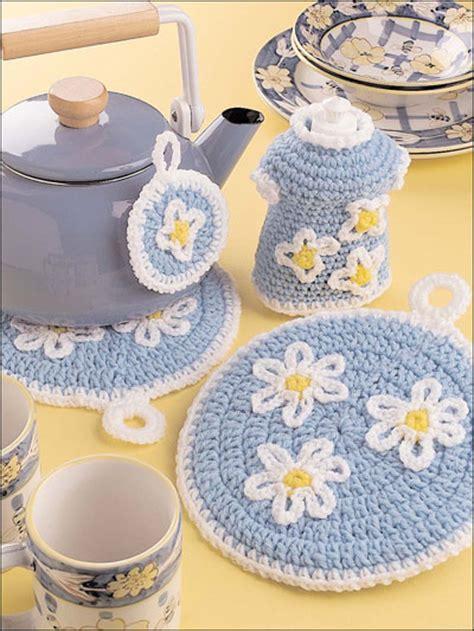 crochet for the home crochet potholder patterns daisy