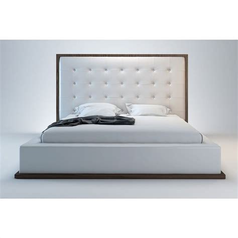 modloft ludlow bed in wenge and white leather md317 xx