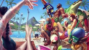 League of Legends POOL PARTY Login Theme - YouTube