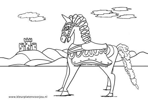 Kleurplaat Paarden Spirit by Paard Met Kasteel Kleurplaat Kleurplaten Voor Jou