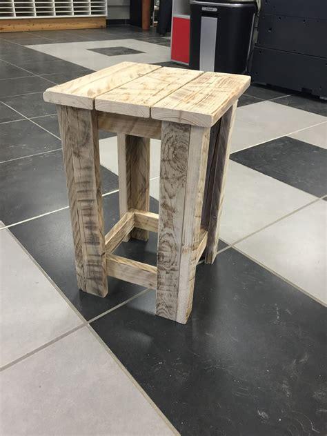 meuble palette tabouret en bois recycle meubles