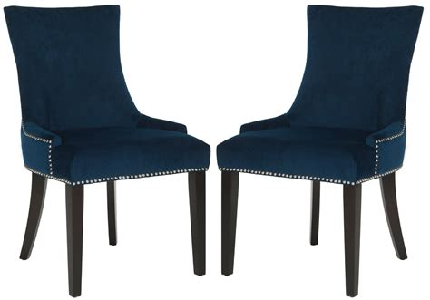 navy cushioned dining chairs safavieh