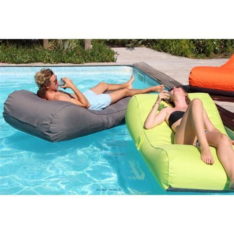 matelas de piscine flottant wave gonflable canap 233 pouf pas cher