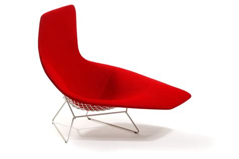 chaise bertoia blanche asymmetric chaise designed by harry bertoia
