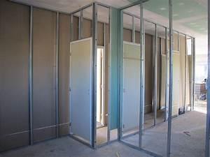 Doubler Un Mur En Placo Sur Rail : cloisons briques ou placo les deux notre maison bbc ~ Dode.kayakingforconservation.com Idées de Décoration