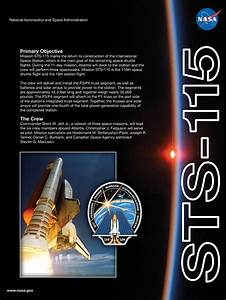STS-115 Mission poster   NASA Mission poster   Pinterest ...