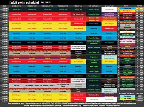 Cartoon Network Schedule Archive