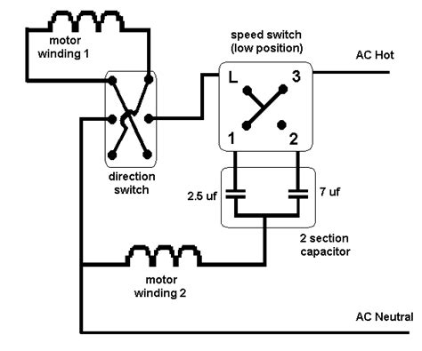 Electric Ac Wiring Diagram With Three Fan by Ceiling 3 Speed 3 Wire Switch And Diagram Wire Switch