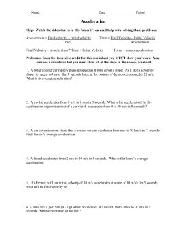 acceleration worksheet fulton county schools