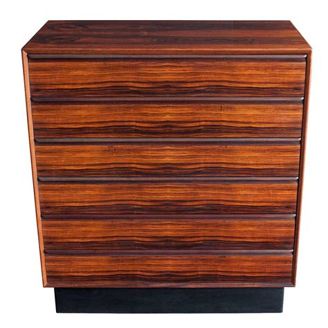 rosewood tall six drawer dresser by westnofa at 1stdibs