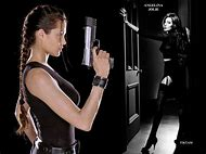 Angelina Jolie as Tomb Raider