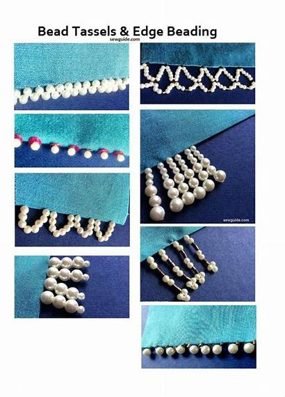 Beading Bead Beaded Edge Tassels Sew Sewing