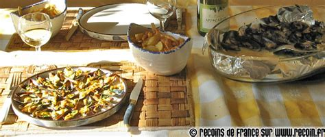 cuisine charentaise recette mouclade charentaise sur recoin fr