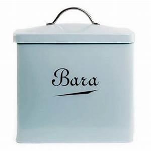 New Design Sea Spray Blue Enamel Welsh Bara Bread Bin