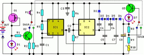How Build Self Powered Fast Battery Tester Schematic