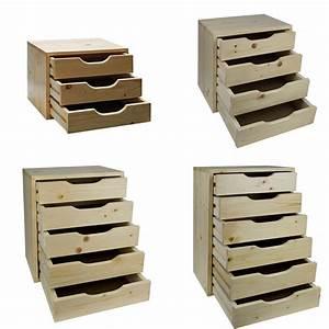 Universal Schubladenbox 3/4/5/6 Schubladen Bürobox Holz