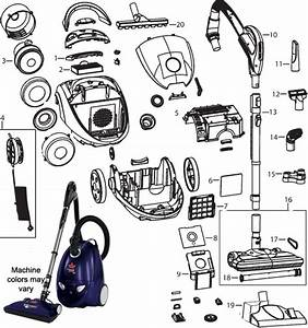 Bissell 48k2 Clean Along Canister Vacuum Cleaner Parts