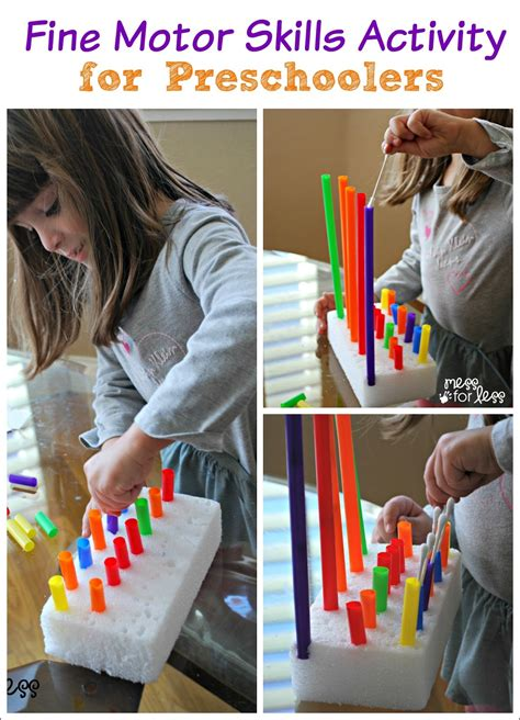 motor skills activity for preschoolers mess for less 869 | fine motor skills activity for preschoolers