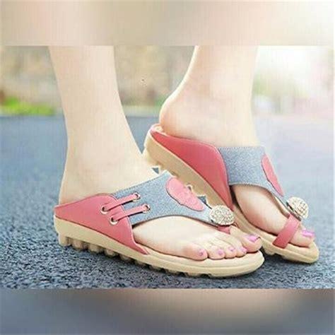 jual limited sepatu fashion sandal jepit s heels high sepatu 8cm korea bludru sandal di lapak