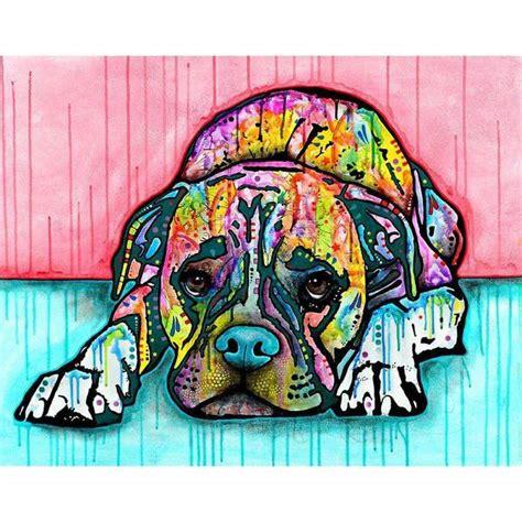 lying boxer dog wall sticker decal animal pop art  dean