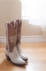 Wedding Monogrammed Cowboy Boots