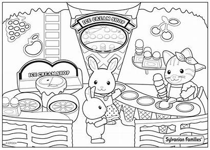 Calico Coloring Critters Pages Coloriage Ice Cream