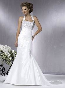 halter top white wedding dress with embroidery sang maestro With halter top wedding dresses
