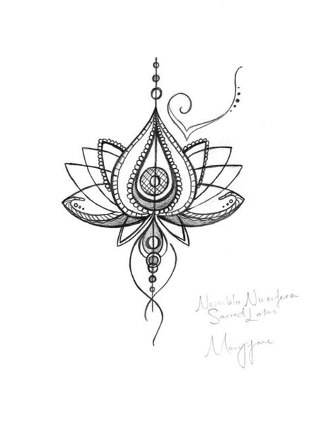 Lotus Flower Drawing Tattoo at GetDrawings | Free download