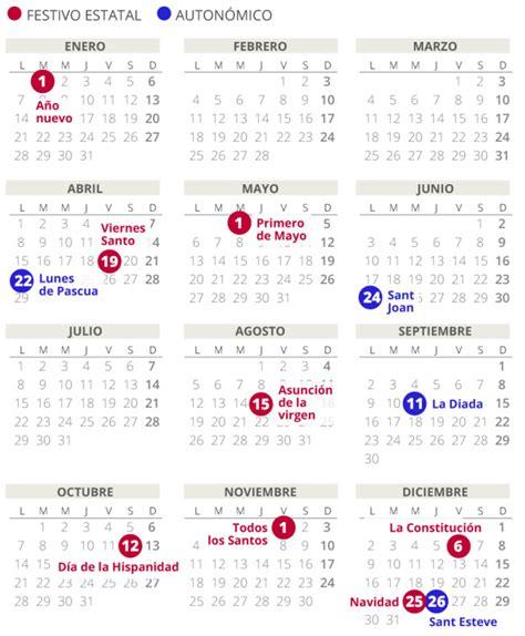 calendario laboral del en catalunya todos los