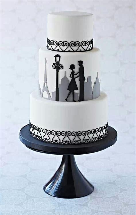 paris silhouette couple cake cake silhouette cake