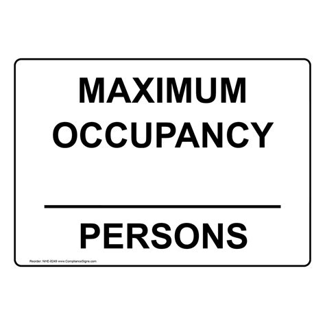 custom maximum occupancy persons sign nhe  industrial
