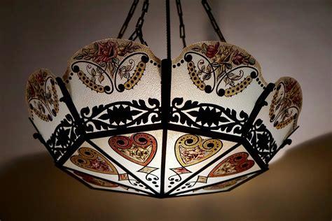 stained glass chandelier stained glass chandelier for at 1stdibs