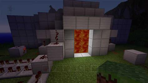 minecraft xbox 360 redstone lava door