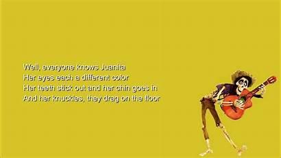 Coco Lyrics Juanita Knows Everyone Chords Bernal