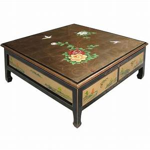 Table De Salon Carrée : table de salon carr e 4 tiroirs ~ Teatrodelosmanantiales.com Idées de Décoration