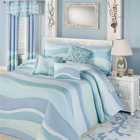 Coastal Coverlet by Tides Lightweight Oversized Coastal Bedspread