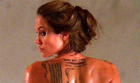 birthday girl angelina jolies  tattoos