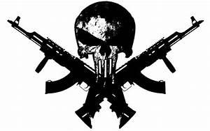 The Punisher skull with guns   guns 1280x800 wallpaper ...