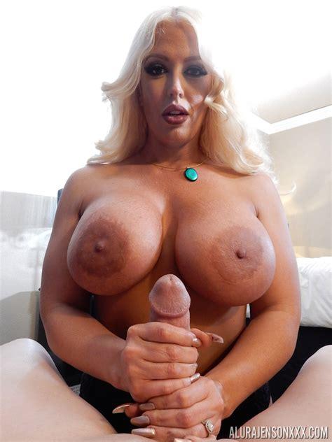 Platinum Blonde Pornstar Alura Jenson Pleases A Big Cock