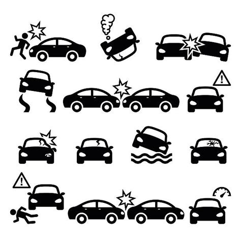 Royalty Free Car Accident Clip Art, Vector Images