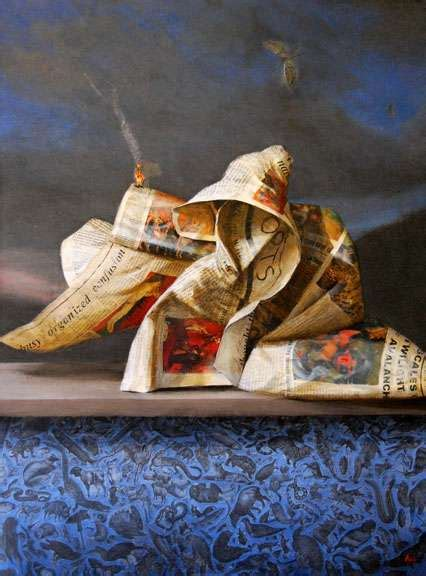 rubbish paintings photorealistic junk masterpieces