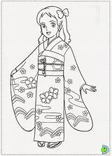Desenhos Meninas Colorir Pequena Sara Japonesas Pintar Imprimir sketch template